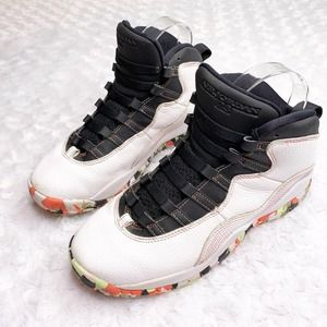 Jordans Retro 10 ember glow high top Camo bottom